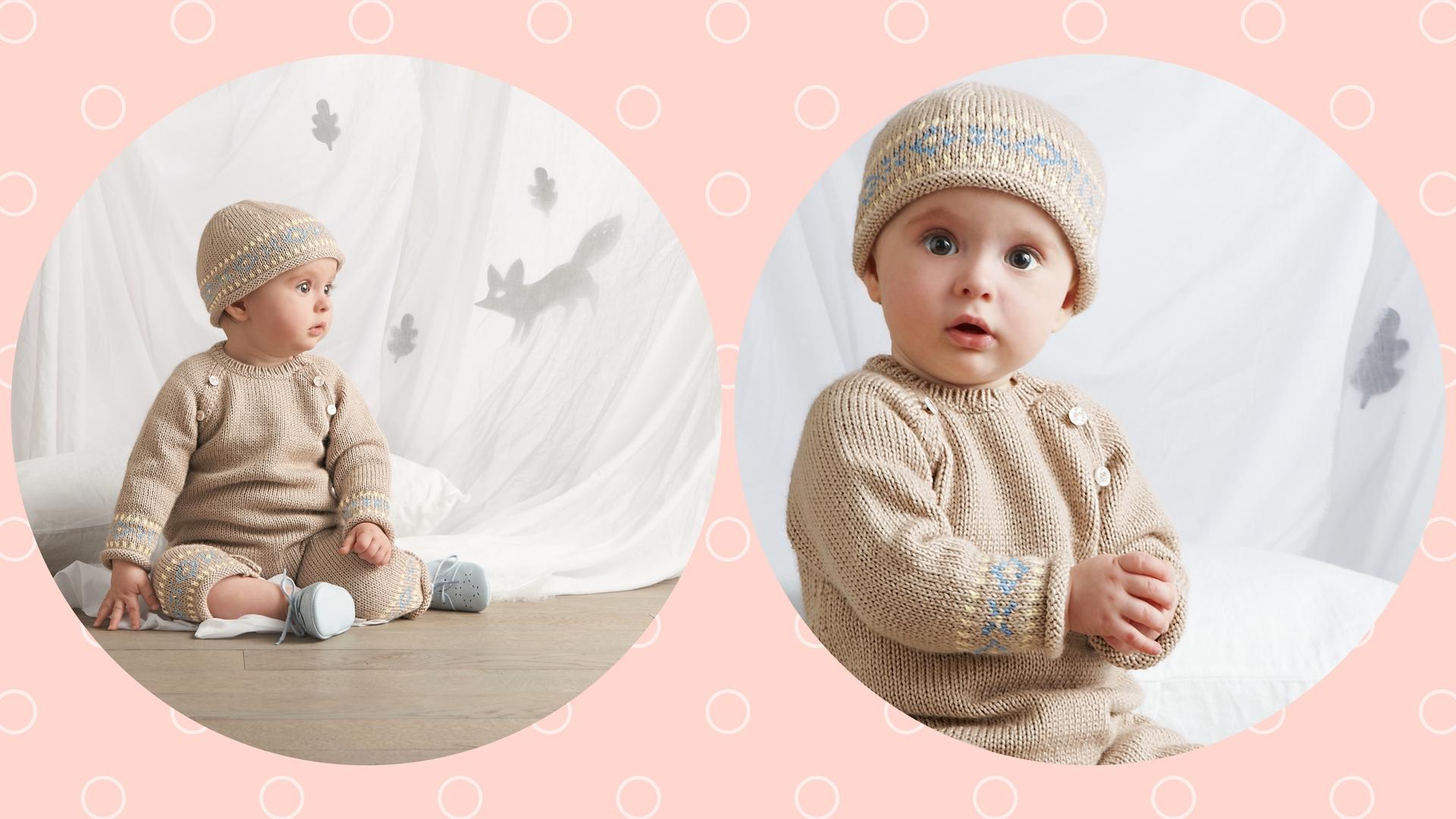 Combinaison layette et bonnet | Blog Bergère de France
